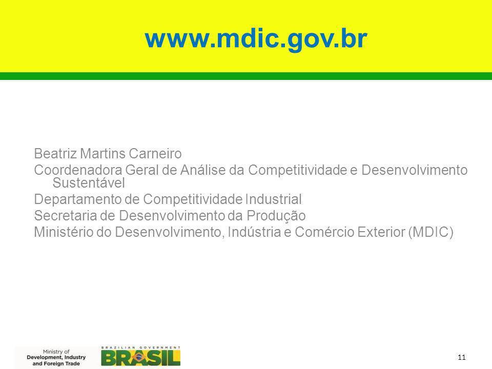 www.mdic.gov.br Beatriz Martins Carneiro