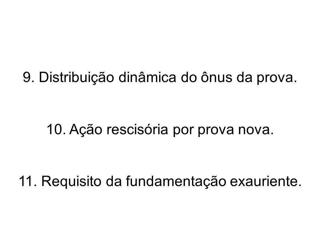 9. Distribuição dinâmica do ônus da prova.