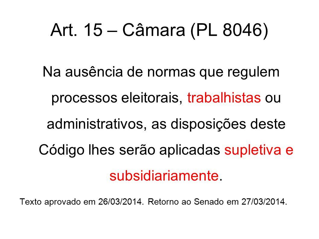 Art. 15 – Câmara (PL 8046)