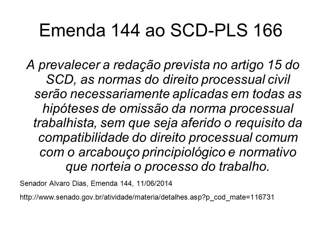 Emenda 144 ao SCD-PLS 166
