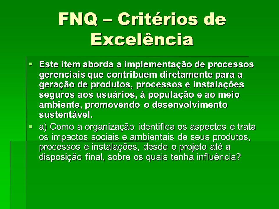 FNQ – Critérios de Excelência