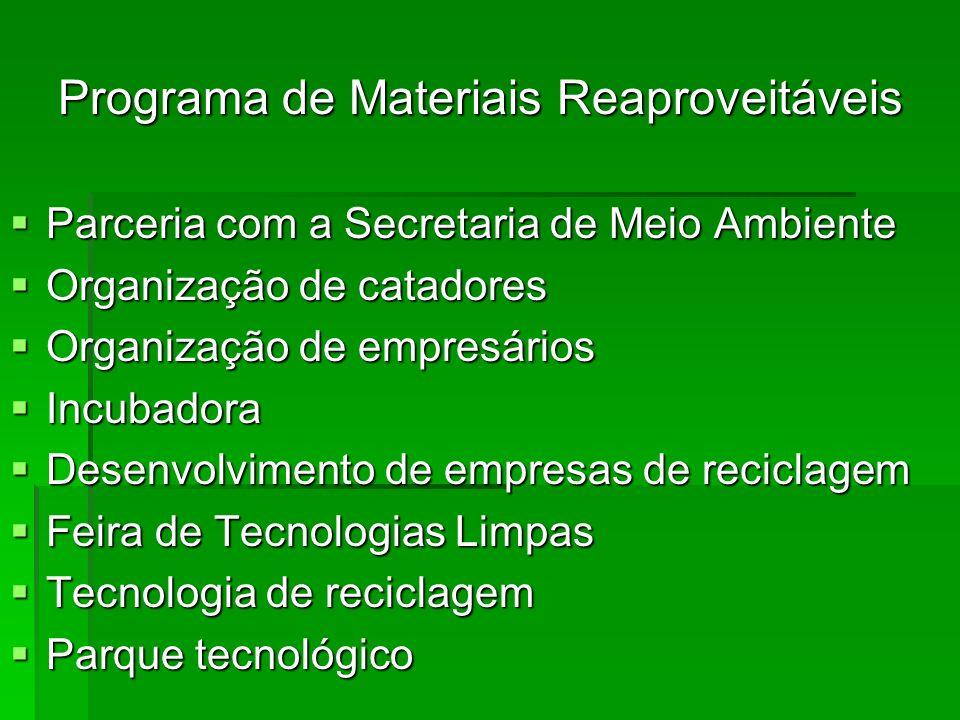 Programa de Materiais Reaproveitáveis