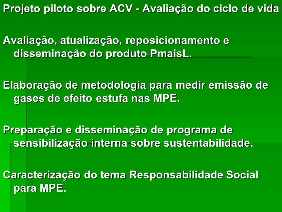 Projeto piloto sobre ACV - Avaliação do ciclo de vida