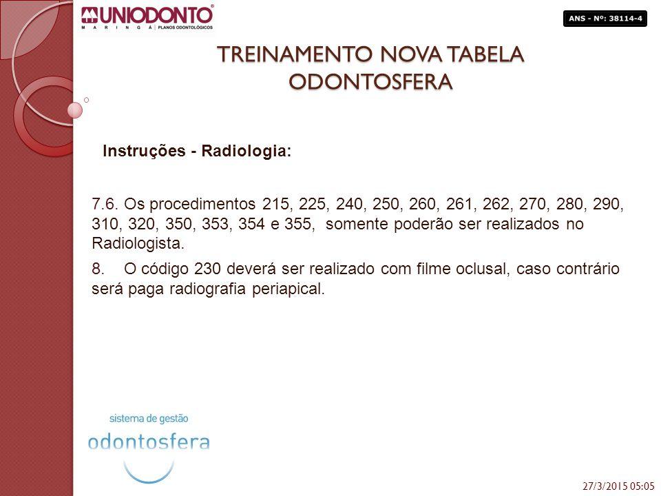 TREINAMENTO NOVA TABELA ODONTOSFERA