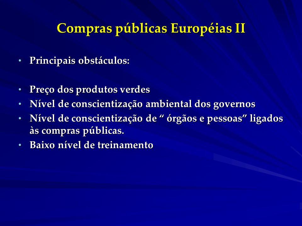 Compras públicas Européias II