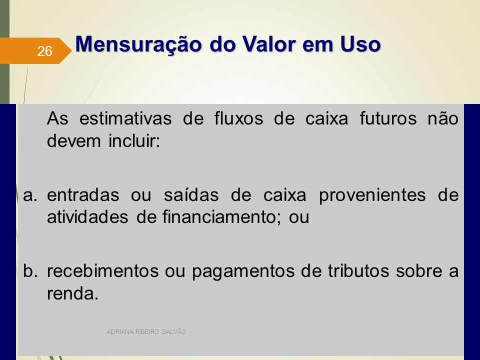 Mensuração do Valor em Uso