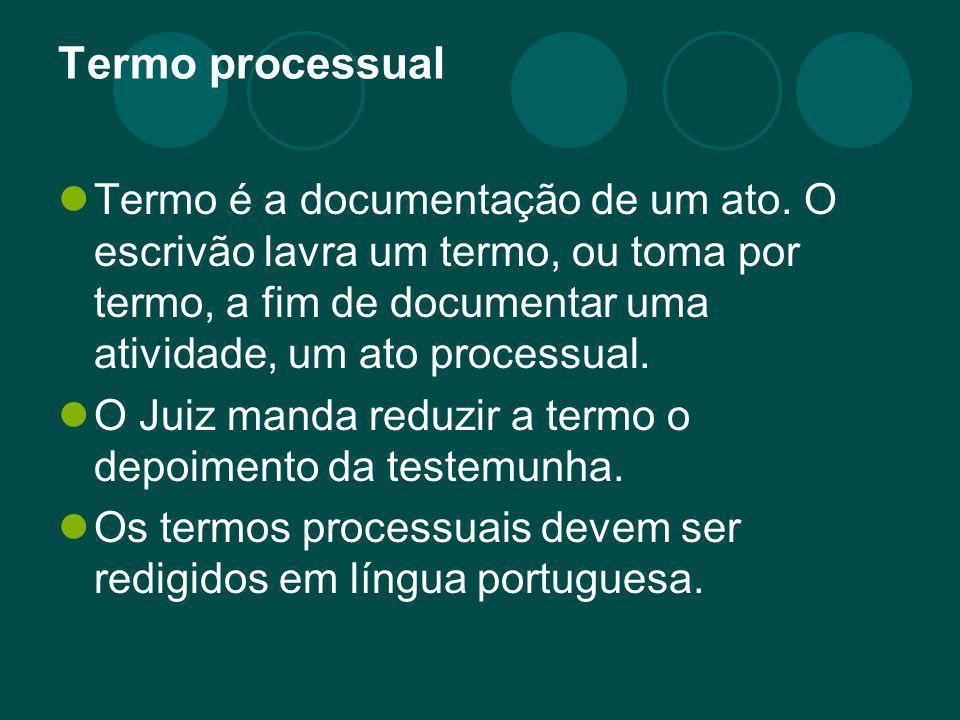 Termo processual
