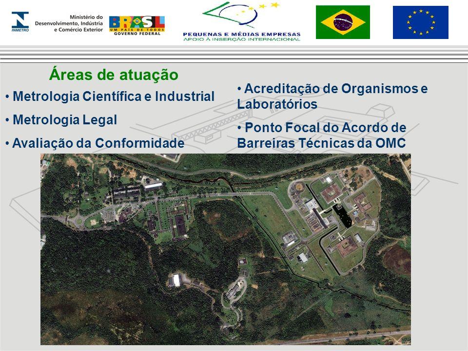 Áreas de atuação Acreditação de Organismos e Laboratórios