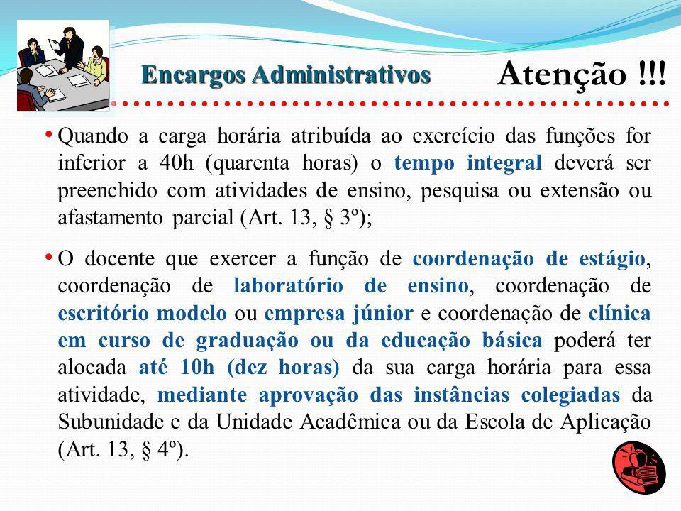 Atenção !!! .................................................. Encargos Administrativos.