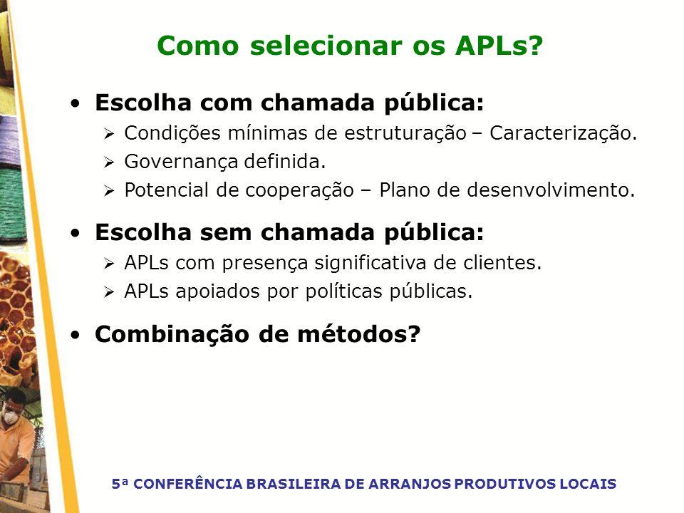 Como selecionar os APLs
