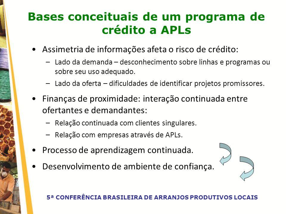 Bases conceituais de um programa de crédito a APLs