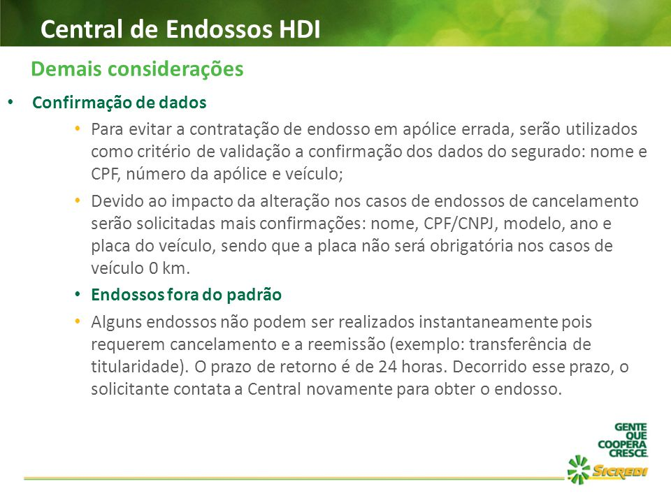 Central de Endossos HDI