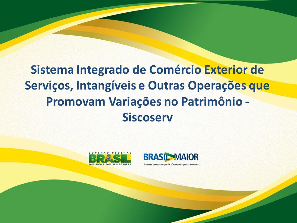Sistema Integrado de Comércio Exterior de Serviços, Intangíveis e Outras Operações que Promovam Variações no Patrimônio - Siscoserv