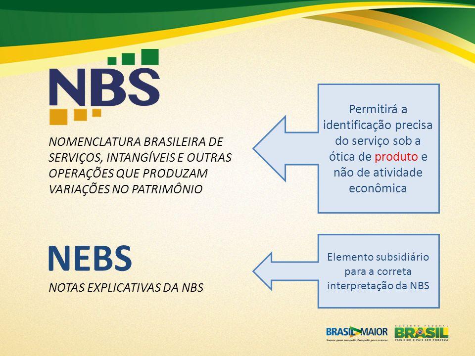 Elemento subsidiário para a correta interpretação da NBS