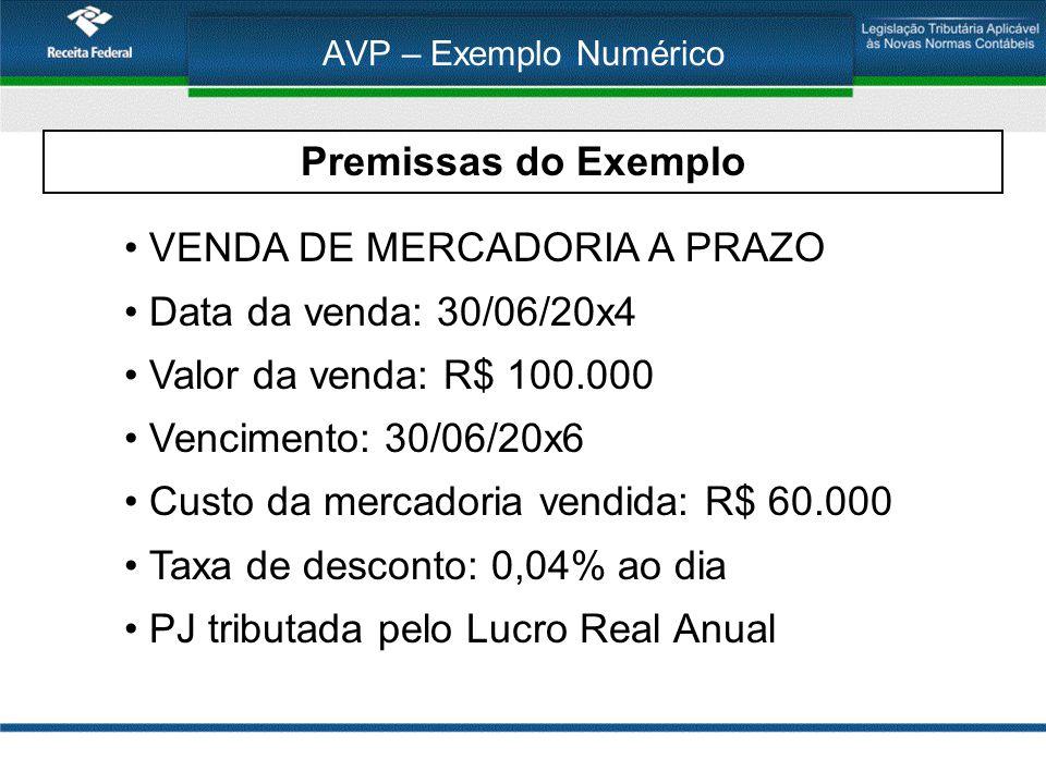 VENDA DE MERCADORIA A PRAZO Data da venda: 30/06/20x4