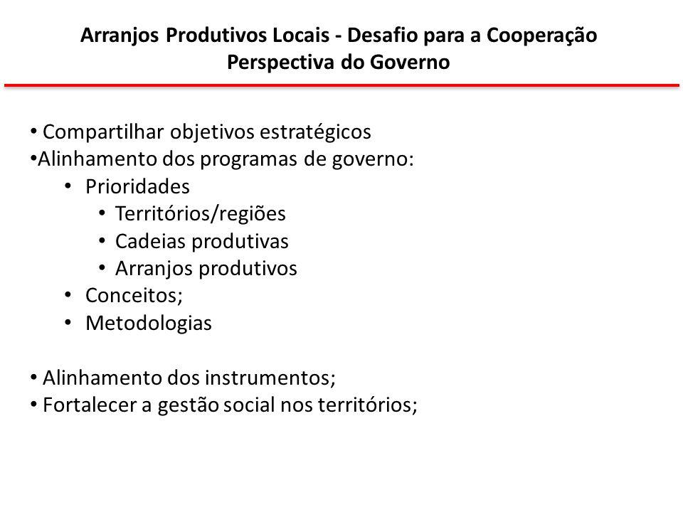 Arranjos Produtivos Locais - Desafio para a Cooperação
