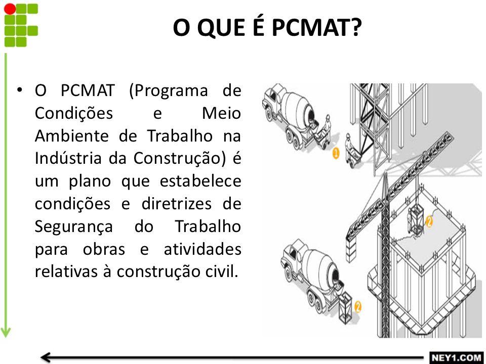 O QUE É PCMAT