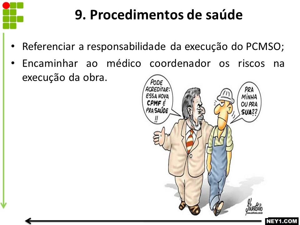 9. Procedimentos de saúde