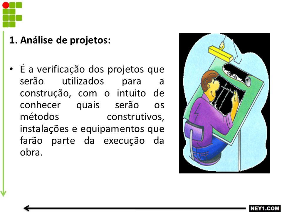 1. Análise de projetos: