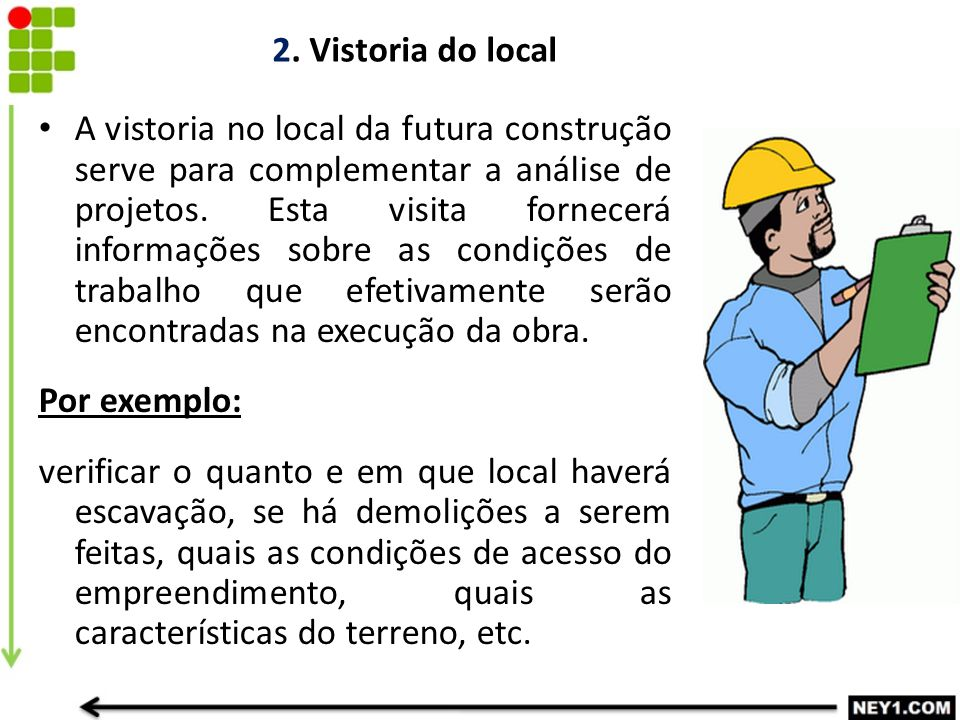 2. Vistoria do local