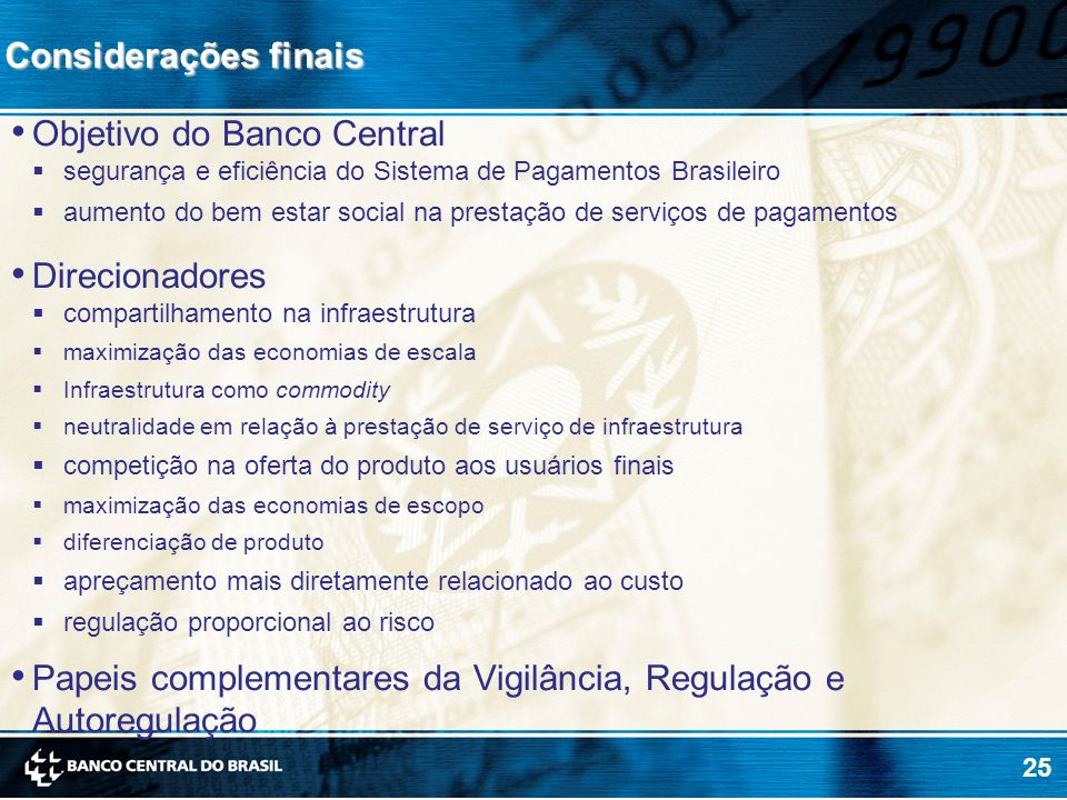Objetivo do Banco Central