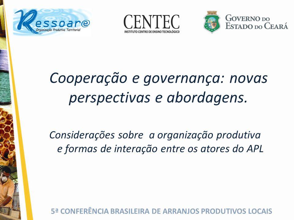 Cooperação e governança: novas perspectivas e abordagens.