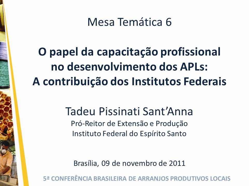 O papel da capacitação profissional no desenvolvimento dos APLs: