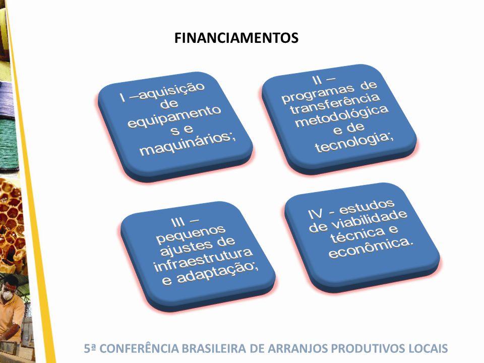 II – programas de transferência metodológica e de tecnologia;
