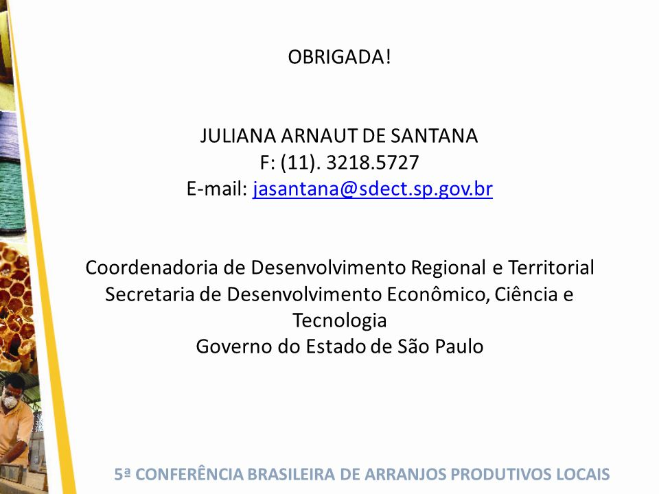 JULIANA ARNAUT DE SANTANA F: (11). 3218.5727