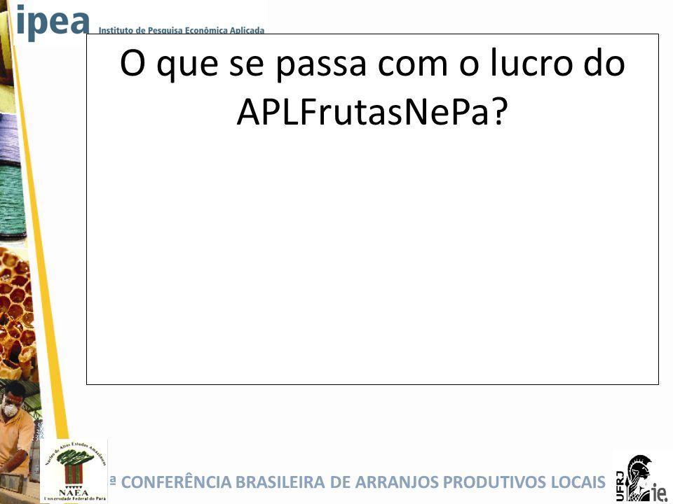 O que se passa com o lucro do APLFrutasNePa