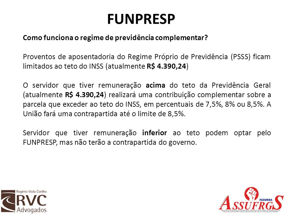 FUNPRESP Como funciona o regime de previdência complementar