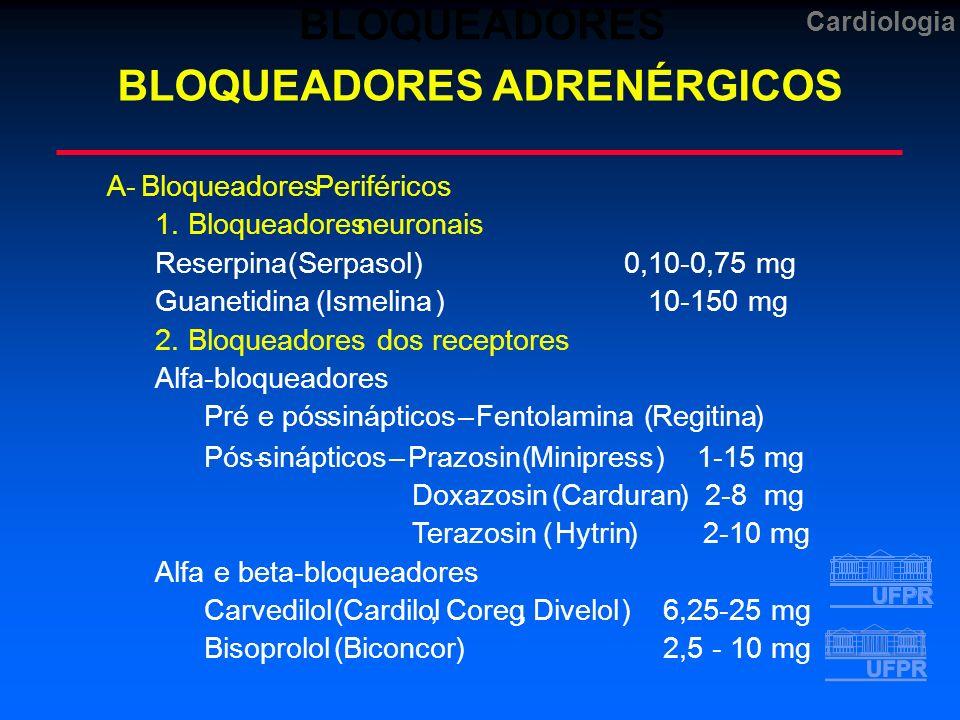 BLOQUEADORES ADRENÉRGICOS