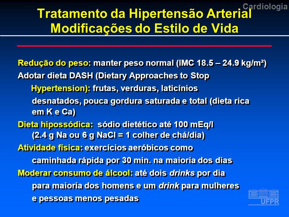 Tratamento da Hipertensão Arterial Modificações do Estilo de Vida