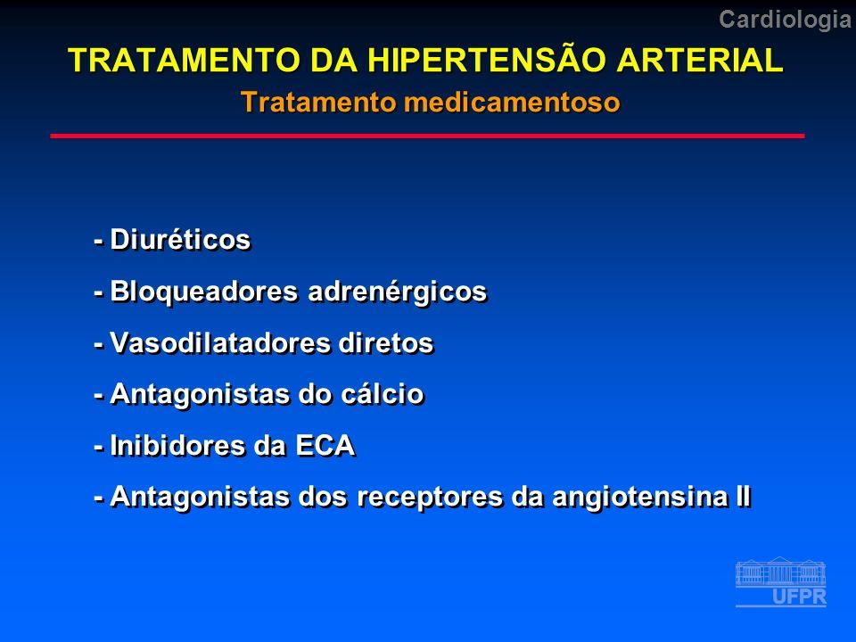 TRATAMENTO DA HIPERTENSÃO ARTERIAL Tratamento medicamentoso