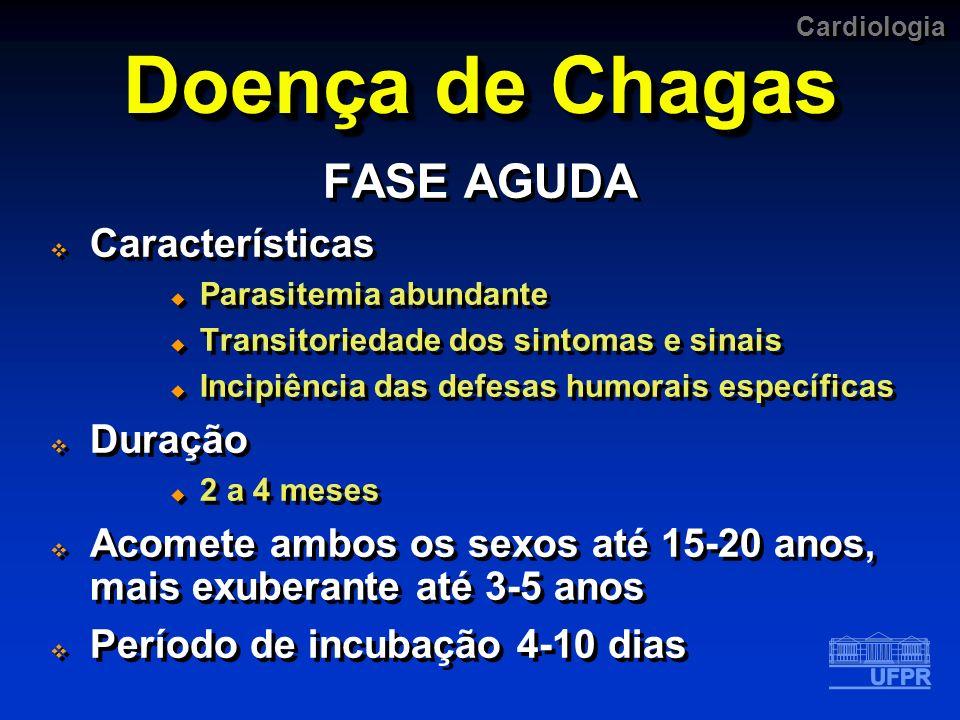 Doença de Chagas FASE AGUDA Características Duração