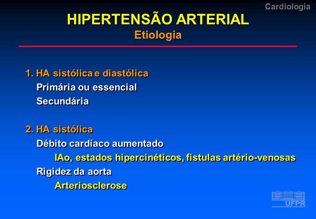 HIPERTENSÃO ARTERIAL Etiologia
