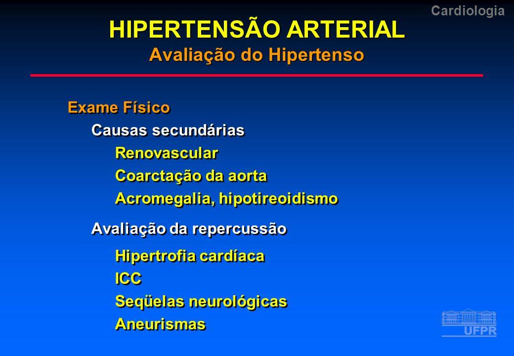 HIPERTENSÃO ARTERIAL Avaliação do Hipertenso