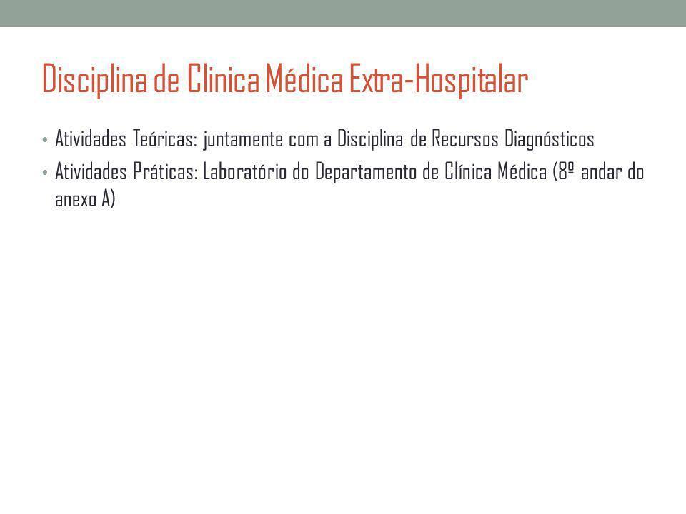 Disciplina de Clinica Médica Extra-Hospitalar