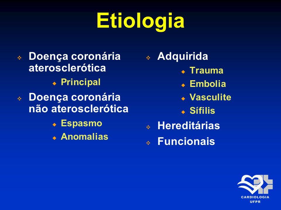 Etiologia Doença coronária aterosclerótica