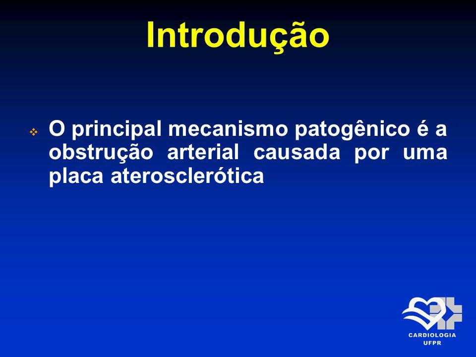 Introdução O principal mecanismo patogênico é a obstrução arterial causada por uma placa aterosclerótica.