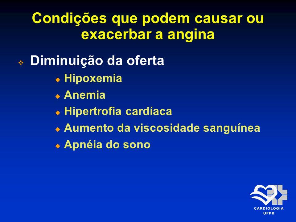 Condições que podem causar ou exacerbar a angina