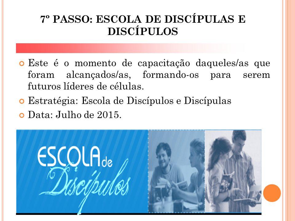 7º PASSO: ESCOLA DE DISCÍPULAS E DISCÍPULOS