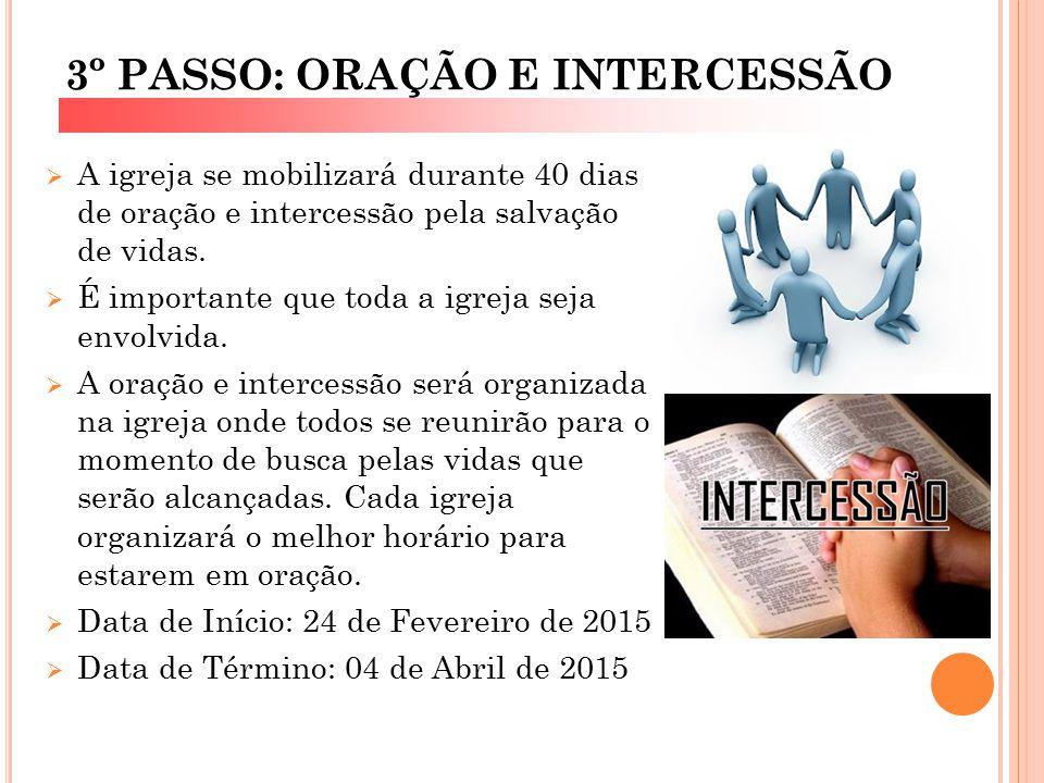 3º PASSO: ORAÇÃO E INTERCESSÃO