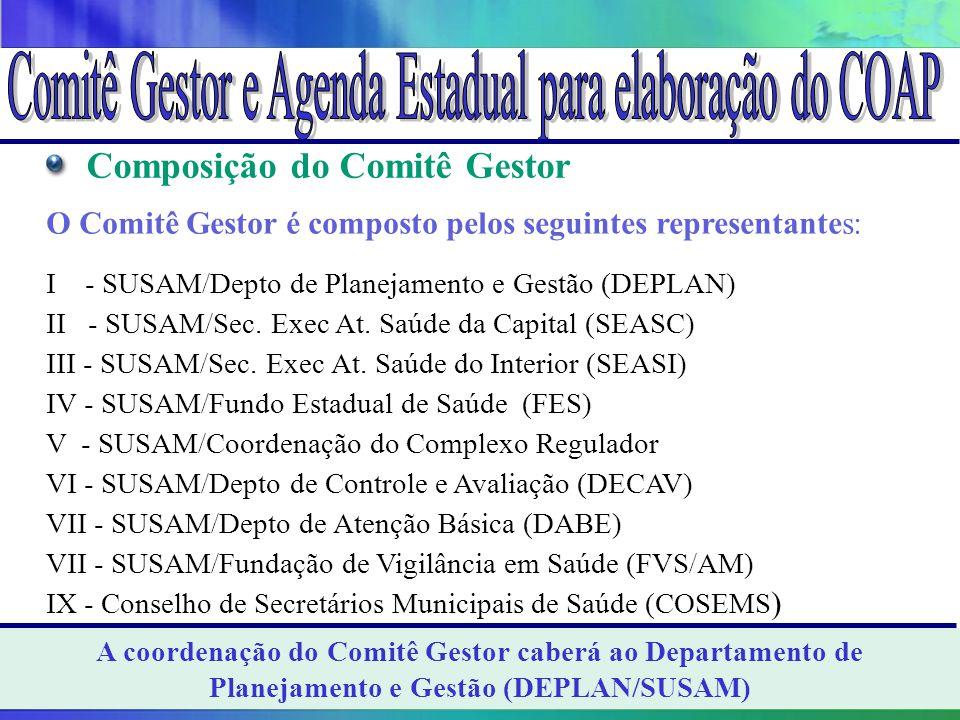 Comitê Gestor e Agenda Estadual para elaboração do COAP