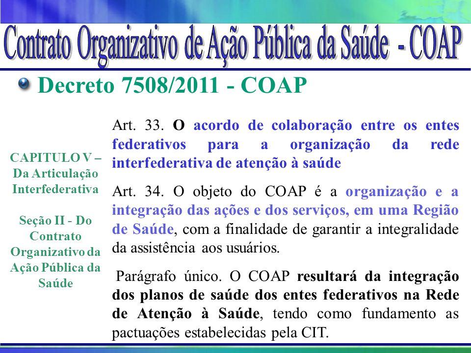 Contrato Organizativo de Ação Pública da Saúde - COAP
