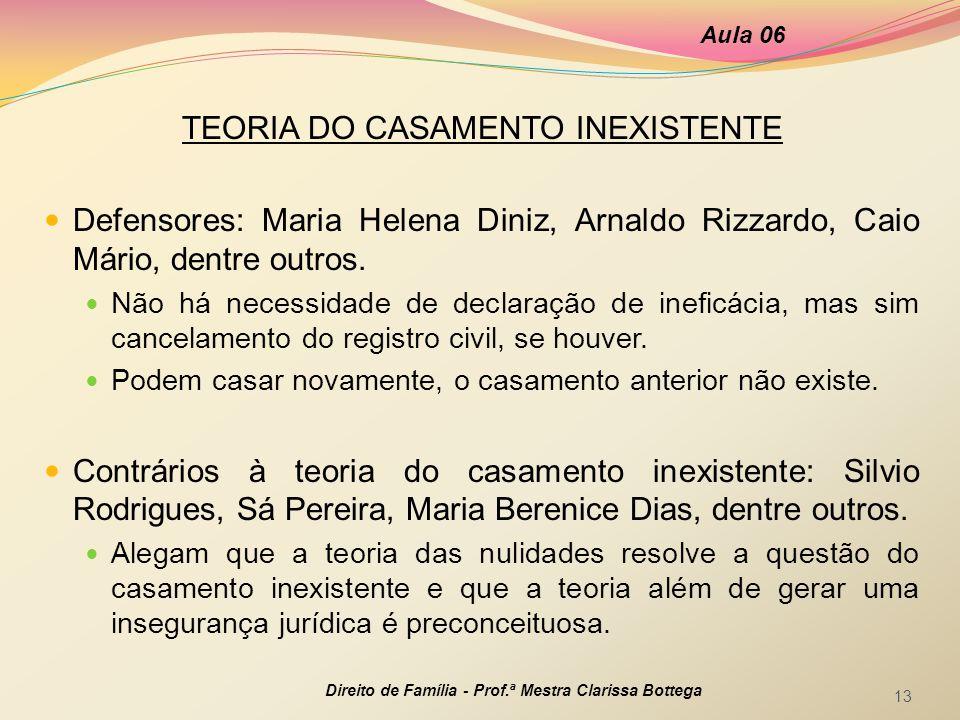 TEORIA DO CASAMENTO INEXISTENTE