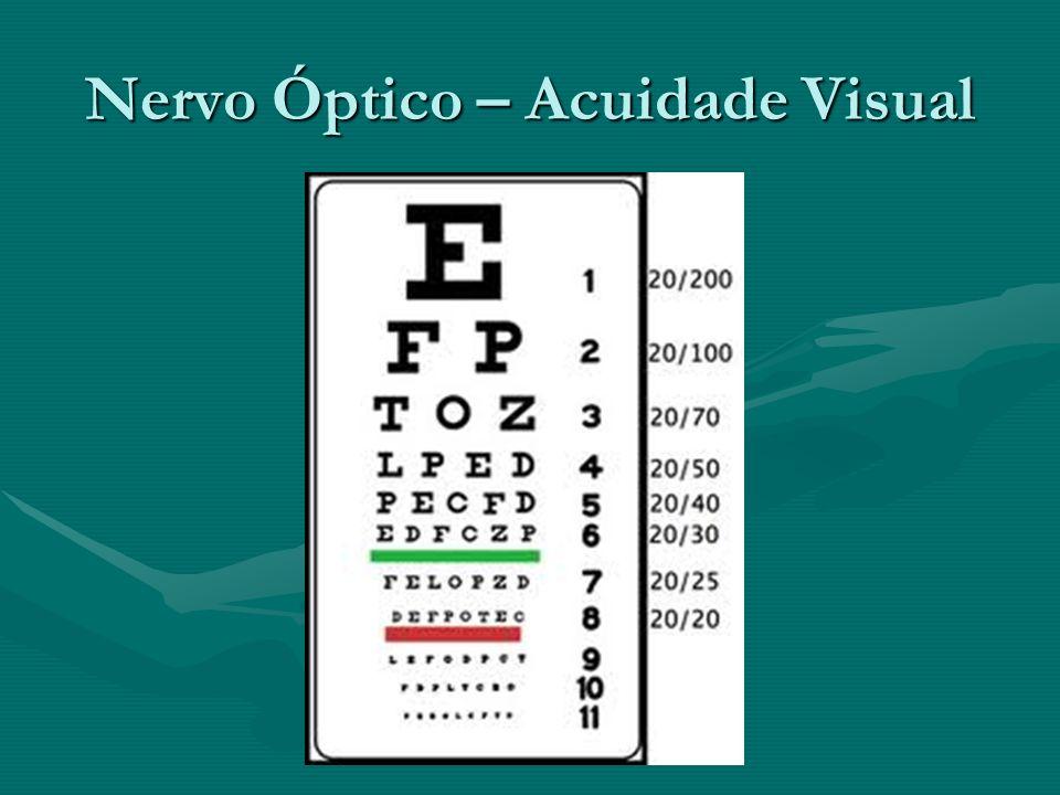 Nervo Óptico – Acuidade Visual