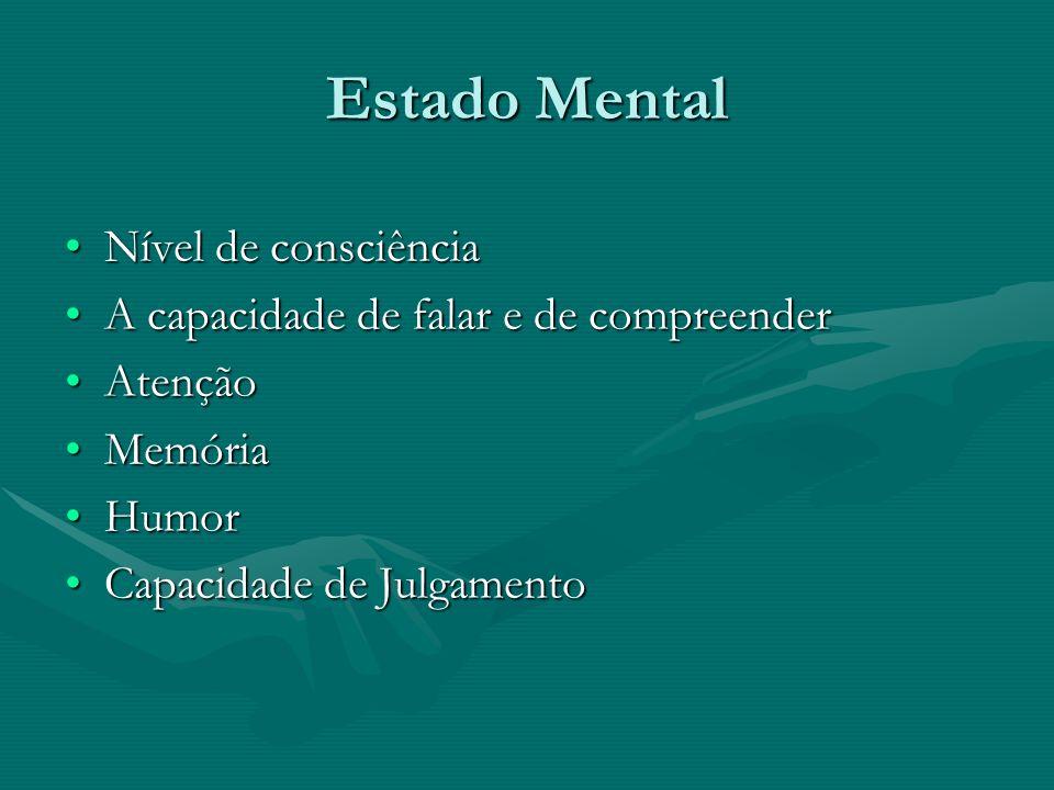 Estado Mental Nível de consciência