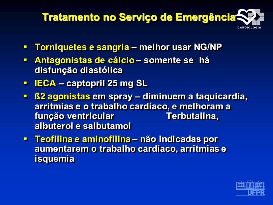 Tratamento no Serviço de Emergência