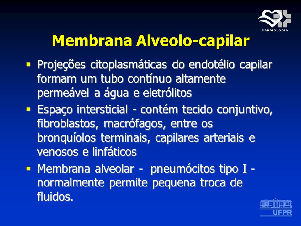 Membrana Alveolo-capilar